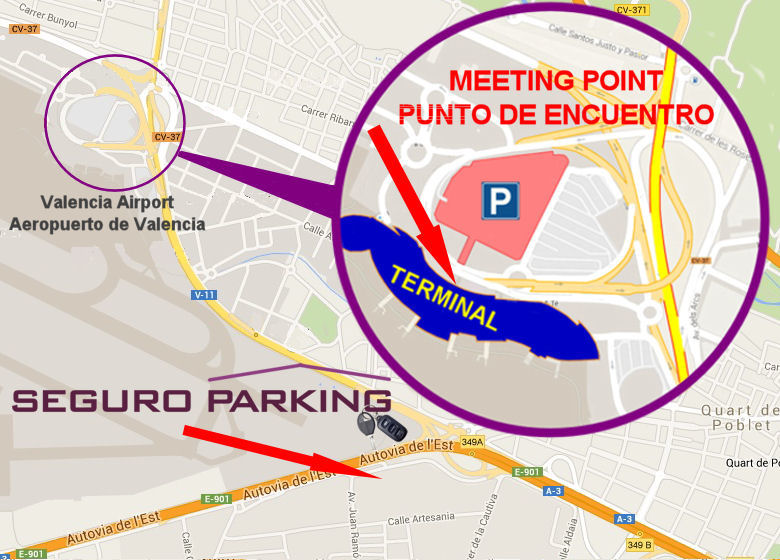 Map Valencia Airport